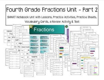 Fourth Grade Fractions Unit - Part 2