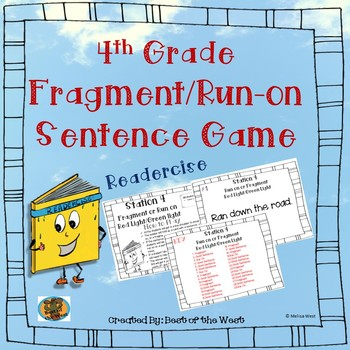 Fourth Grade Fragment and Run-On Game
