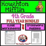 Houghton Mifflin Reading 4th Grade  Cloze Worksheets  & Crossword Puzzles