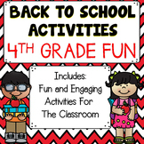 Back To School Activities 4th Grade