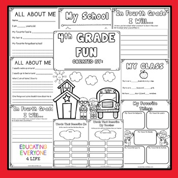 Back To School Activities 4th Grade