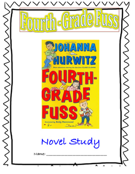 Fourth-Grade Fuss Novel Study