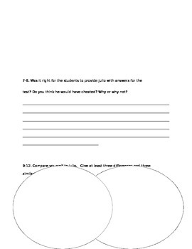Fourth Grade Fuss Story Test