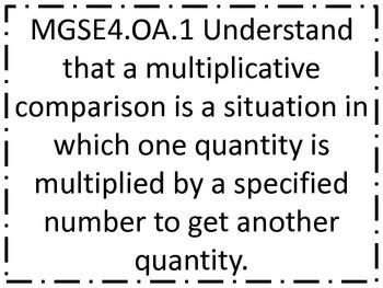Fourth Grade GSE (Georgia Standards of Excellence) Standar