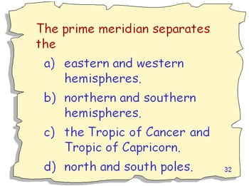 Geography Review and Challenge Game, Set 2