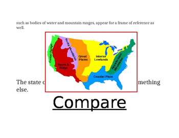 Fourth Grade Geography Vocabulary