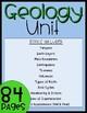 Fourth Grade Geology Unit