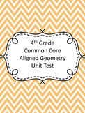 Fourth Grade Geometry Assessment (Common Core Aligned)