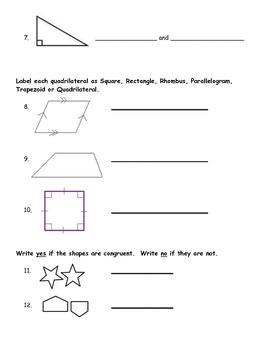 Fourth Grade Geometry Post Assessment