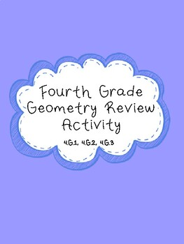 Fourth Grade Geometry Review Activity