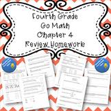 Fourth Grade Go Math Chapter 4 Review Homework