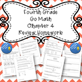 Fourth Grade Go Math Chapter 4 Review Homework