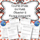Fourth Grade Go Math Chapter 6 Review Homework