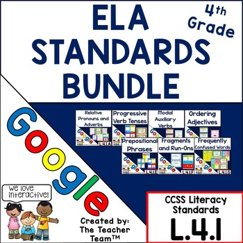 Fourth Grade ELA Grammar Practice Bundle L.4.1 for Google Drive