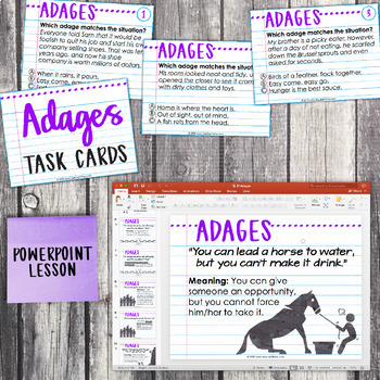 Fourth Grade Grammar and Language Unit on Adages