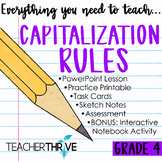 Fourth Grade Grammar and Language Unit on Capitalization Rules