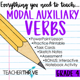 Fourth Grade Grammar and Language Unit on Modal Auxiliary Verbs (Helping Verbs)