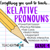 Fourth Grade Grammar and Language Unit on Relative Pronouns