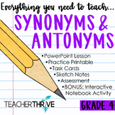 Fourth Grade Grammar and Language Unit on Synonyms and Antonyms