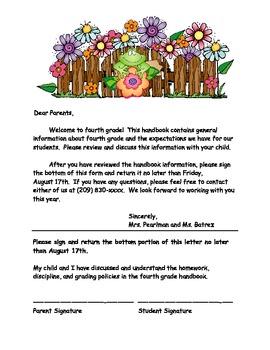 Fourth Grade Handbook