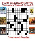Houghton Mifflin Reading 4th Grade Vocabulary Crossword Puzzles Themes 1-6