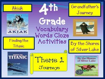 Houghton Mifflin Reading 4th Grade Theme 1 Cloze Worksheets