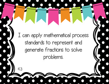 """Fourth Grade """"I Can"""" Statements"""