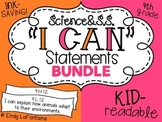 Fourth Grade I Can Statements BUNDLE (Science and Social Studies, Common Core)