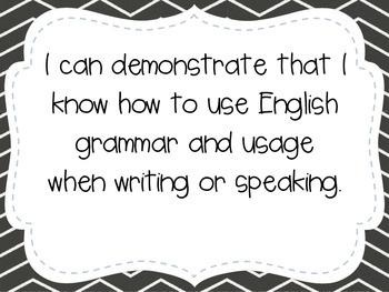 """Fourth Grade """"I Can"""" Statements LAFS & Common Core Language"""