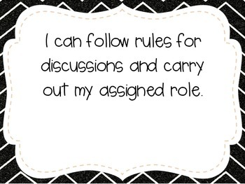 """Fourth Grade """"I Can"""" Statements LAFS & Common Core Speaking & Listening"""