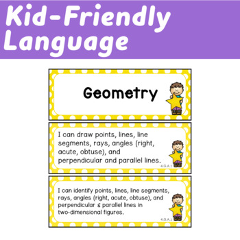 Fourth Grade I Can Statements (Common Core Learning Targets) Math & ELA BUNDLE