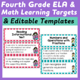 Fourth Grade I Can Statements (Common Core Learning Target