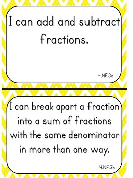 "Fourth Grade ""I Can"" Statements for Math EDITABLE!"