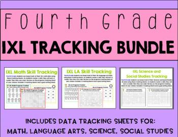 Fourth Grade IXL Tracking Bundle