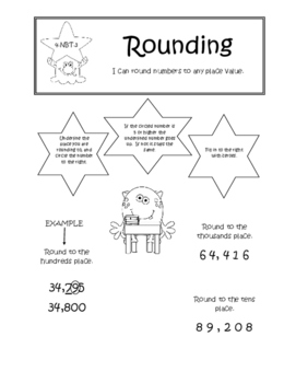 Fourth Grade Interactive Common Core Math Notebook - Numbers in Base Ten