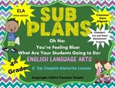Fourth Grade Interactive Emergency Sub Plans (ELA ONLY) CC