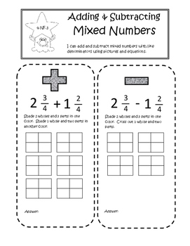 Fourth Grade Interactive Math Notebook - Fractions