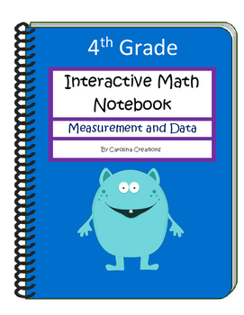 Fourth Grade Interactive Math Notebook - Measurement and Data