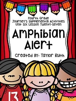 Fourth Grade Journey's Activities: Amphibian Alert (Lesson 27)