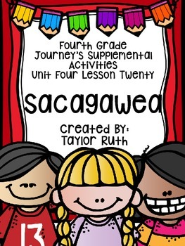 Fourth Grade Journey's Activities: Sacagawea (Lesson 20)