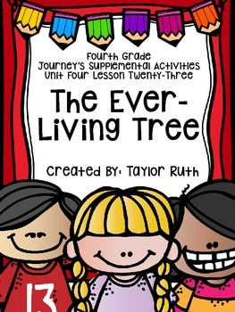 Fourth Grade Journey's Activities: The Ever-Living Tree (Lesson 23)