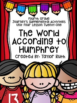 Fourth Grade Journey's Activities: The World According to Humphrey (Lesson 21)