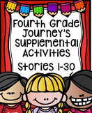 Fourth Grade Journey's Supplemental Activities Bundled Sto