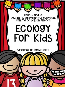 Fourth Grade Journey's Supplemental Activities: Ecology for Kids Lesson 15