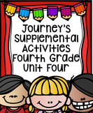 Fourth Grade Journey's Supplemental Activities for Unit Four (Lessons 16-20)