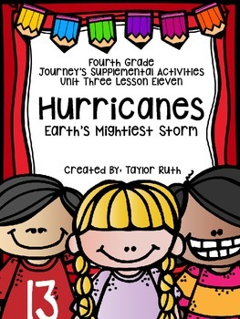 Fourth Grade Journey's Supplemental Activities: Hurricanes