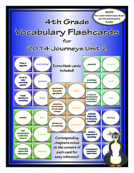 Fourth Grade Journeys Unit 2 Vocabulary Flashcards
