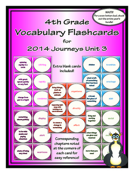 Fourth Grade Journeys Unit 3 Vocabulary Flashcards