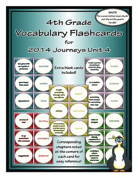 Fourth Grade Journeys Unit 4 Vocabulary Flashcards