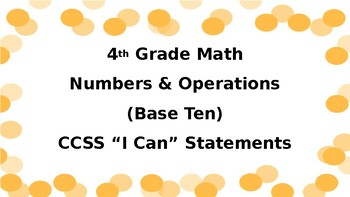 Fourth-Grade Kid-Friendly CCSS Postings
